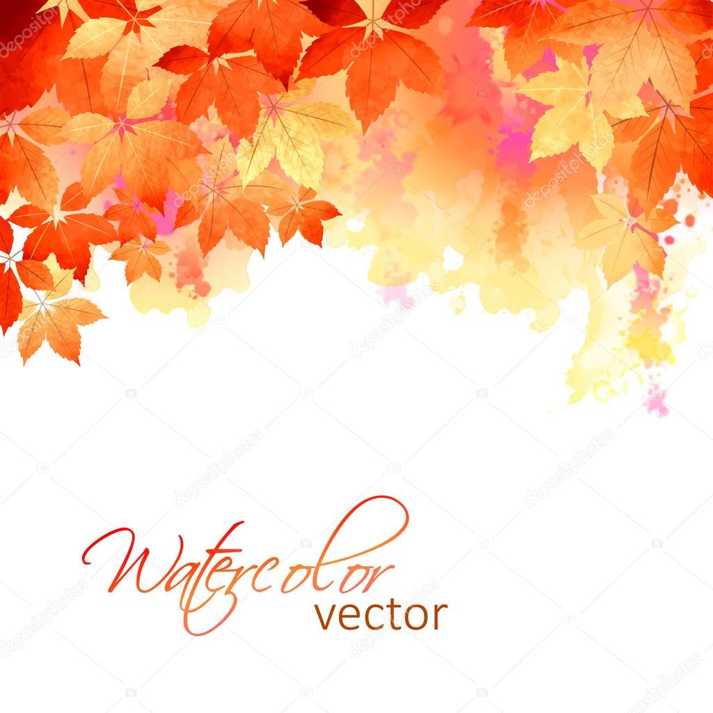 Falling Leaves Live Wallpaper Autumn Vector Watercolor Fall Leaves Stock Vector