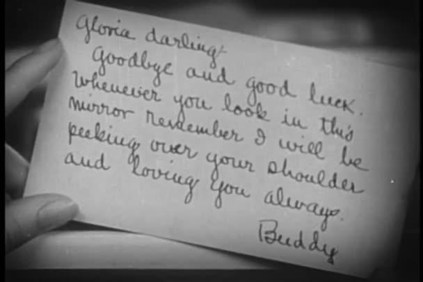 Close-up of goodbye note \u2014 Stock Video © everett225 #26644121 - goodbye note