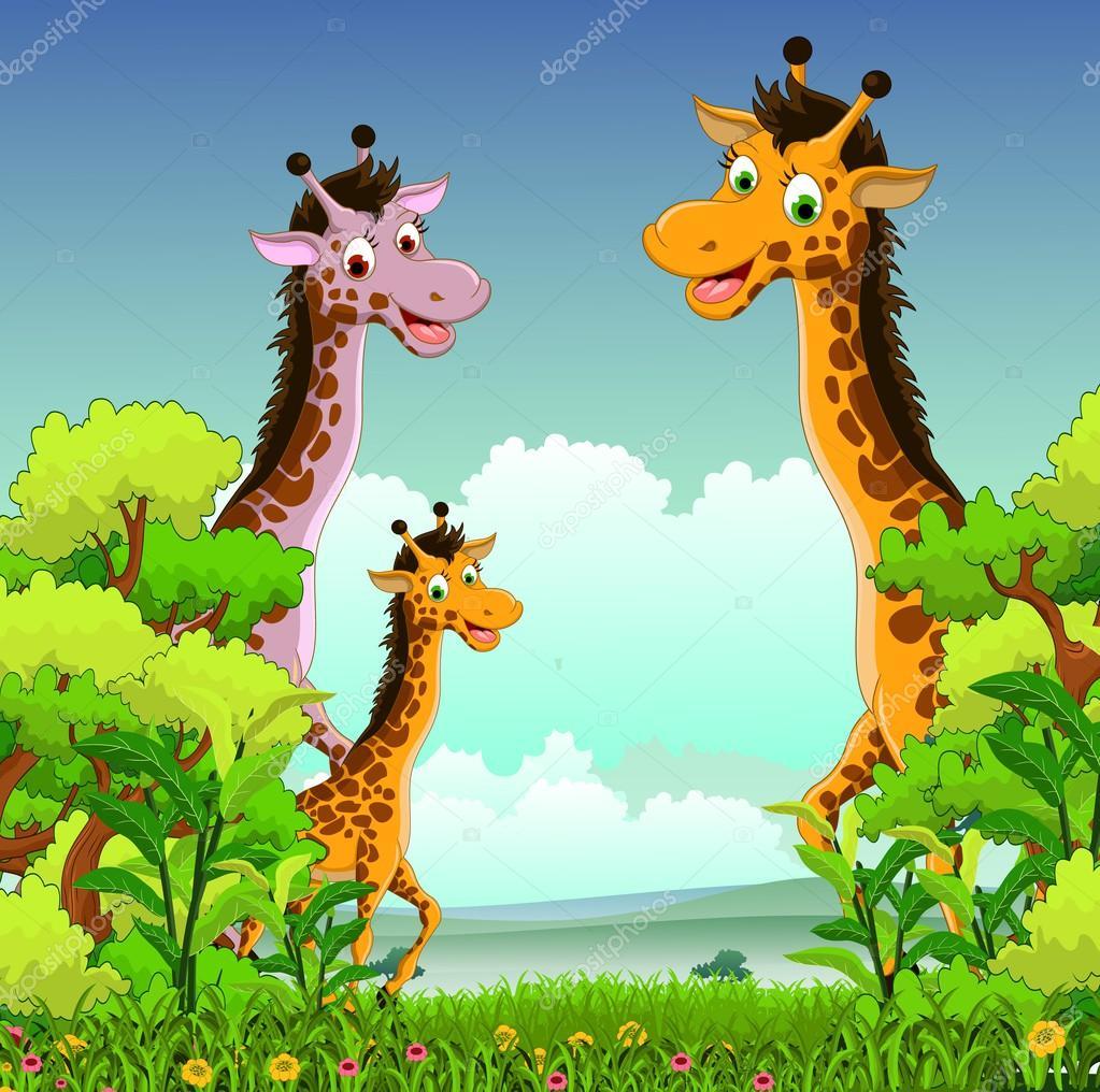 Forest Animal Wallpaper 기린 만화 숲 배경 스톡 벡터 169 Starlight789 33324841
