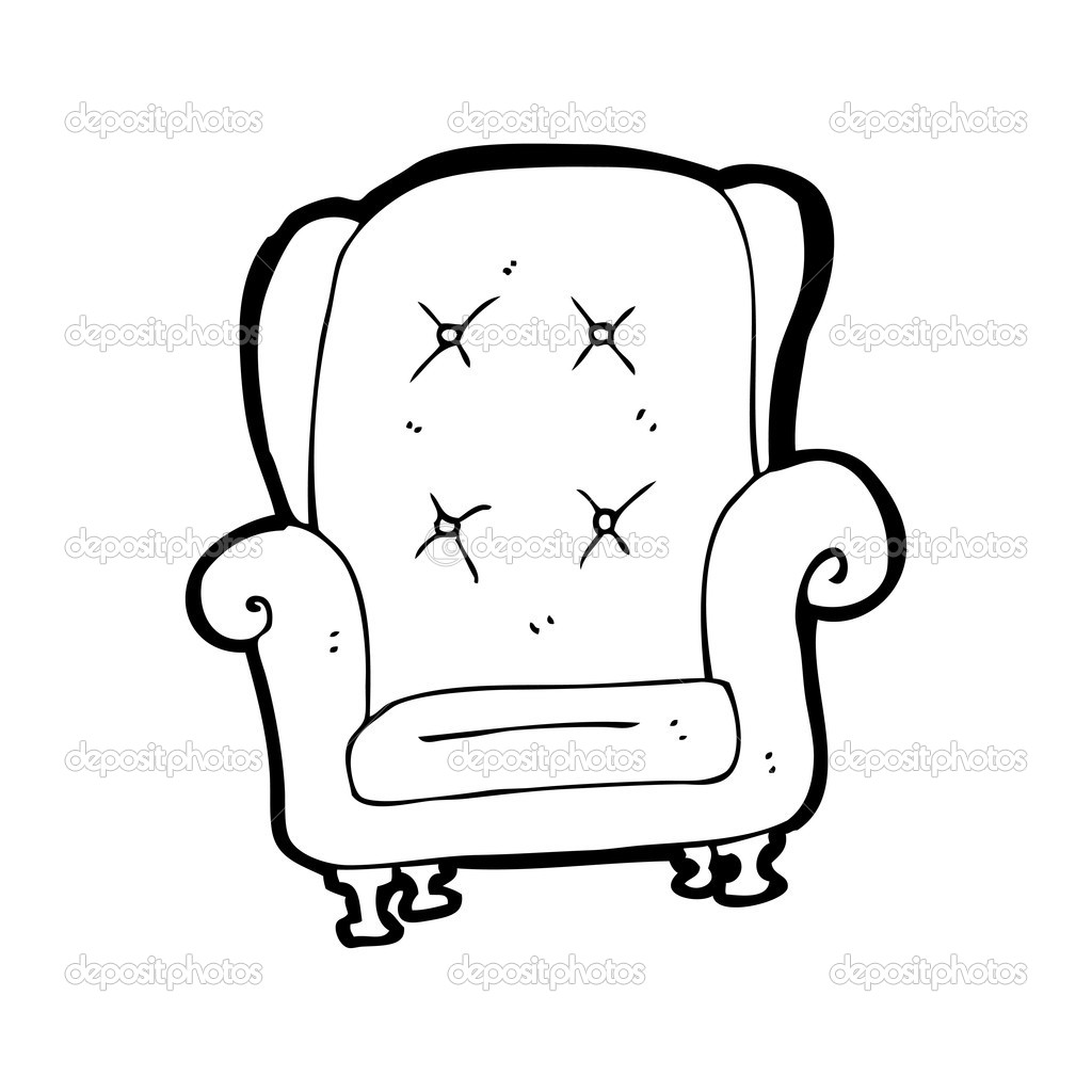 Sessel Comic Old Leather Chair Cartoon — Stock Vector © Lineartestpilot