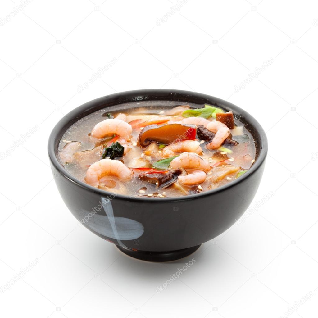Exceptionnel Japanische Küche Meeresfrüchte Suppe Stockfoto