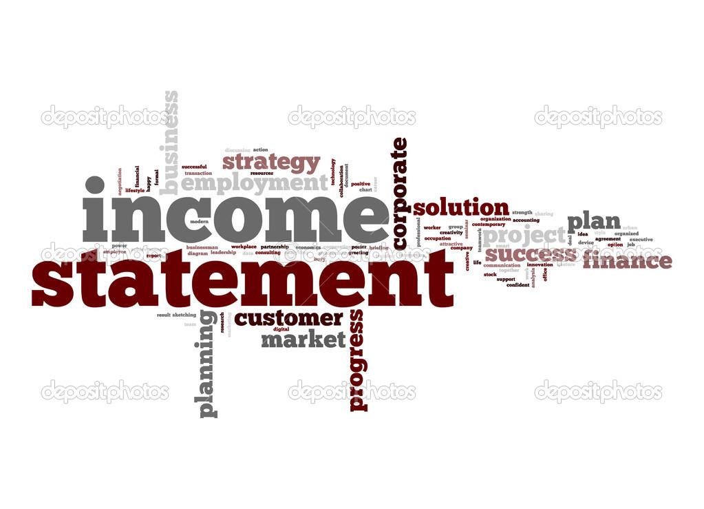 Income statement word cloud \u2014 Stock Photo © tang90246 #48998967