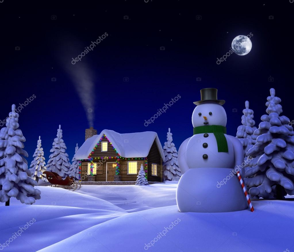 Snow Village 3d Live Wallpaper And Screensaver Christmas Snow Cabin Stock Photo 169 Jamesgroup 13483398
