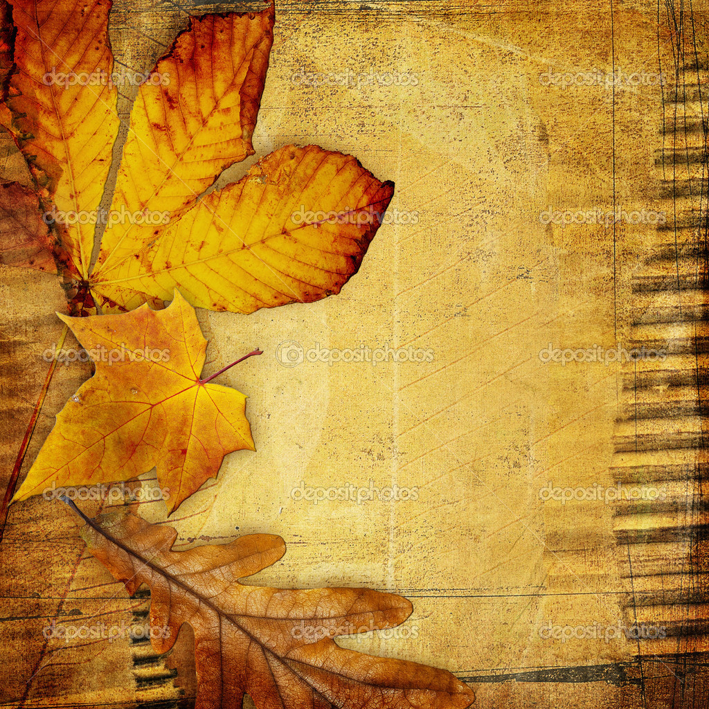 Lighthouse 3d Live Wallpaper Vintage Paper Background With Autumn Leaves Stock Photo