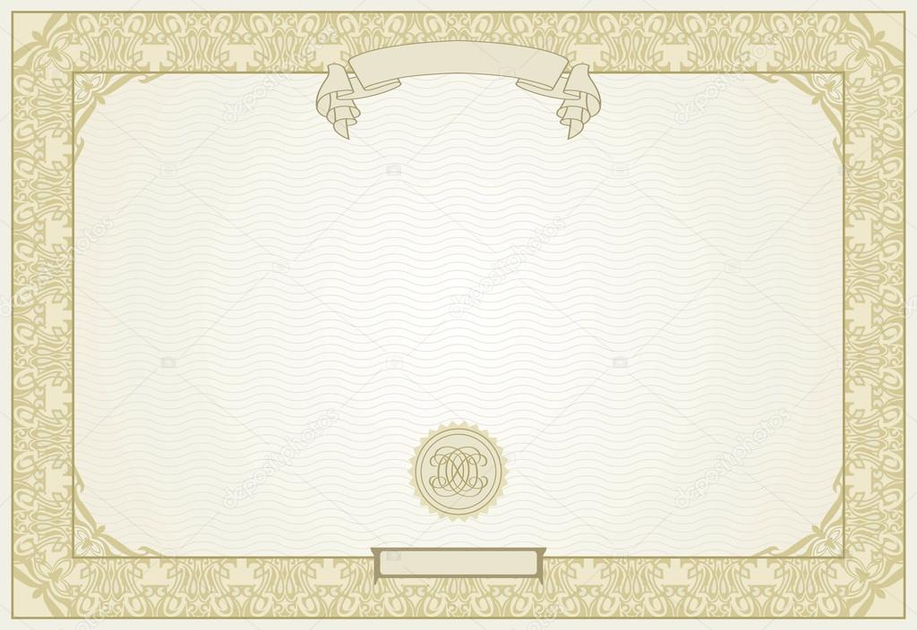 Editable certificate template with ornamental border, in modern