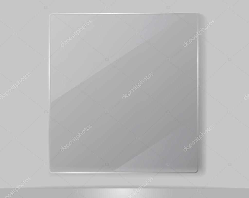 Cadre Photo Verre Transparent Cadre Transparent En Verre Illustration Vectorielle Image