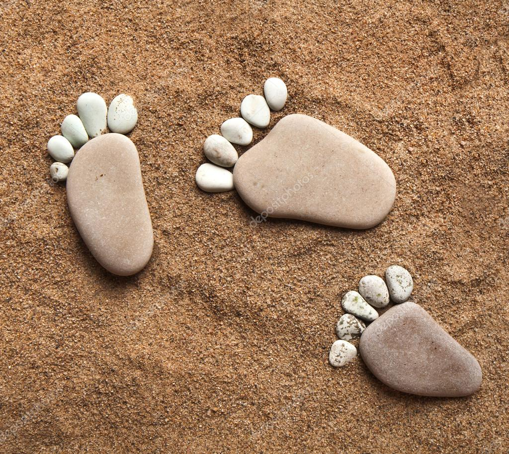 Zen Quote Wallpaper Trace Bare Feet Walking Made Of Pebble Stones On The Beach