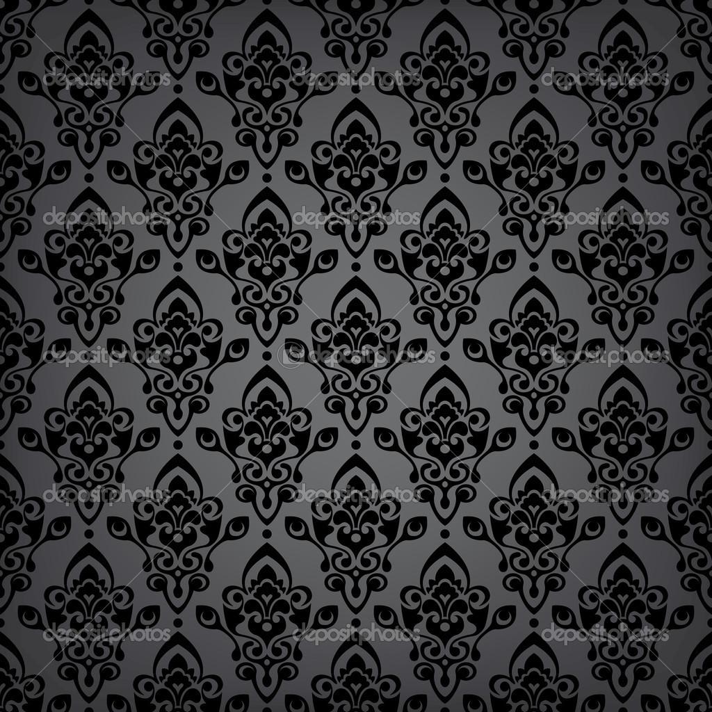 Black Velvet Damask Wallpaper Seamless Black Luxury Pattern Stock Vector 169 Turcanlena