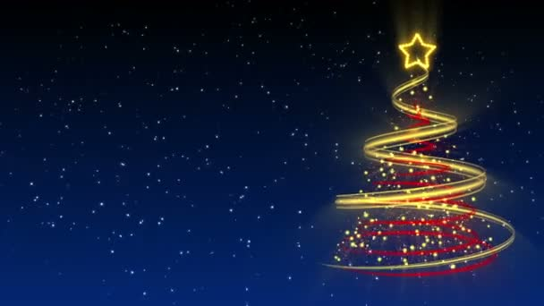 Christmas Tree Background - Merry Christmas 25 (HD) \u2014 Stock Video