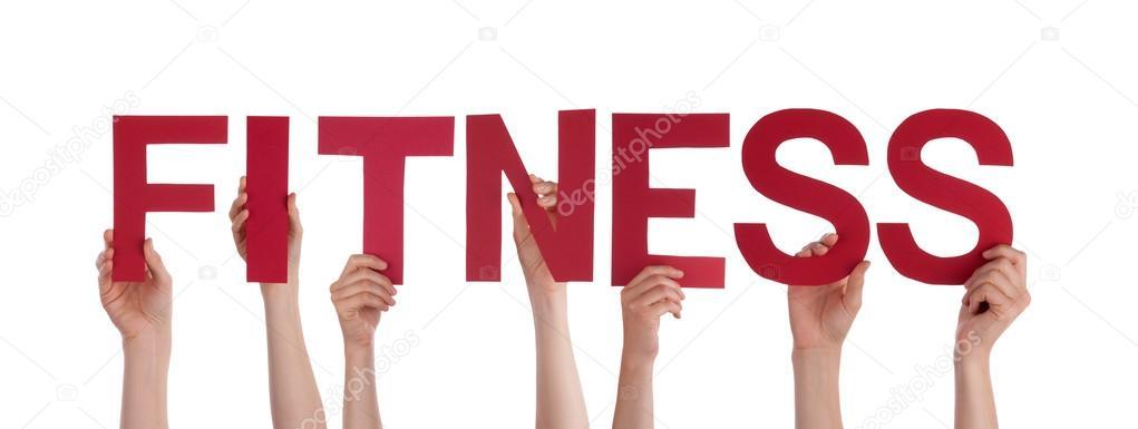 Hands Holding the Word Fitness \u2014 Stock Photo © Nelosa #39273965