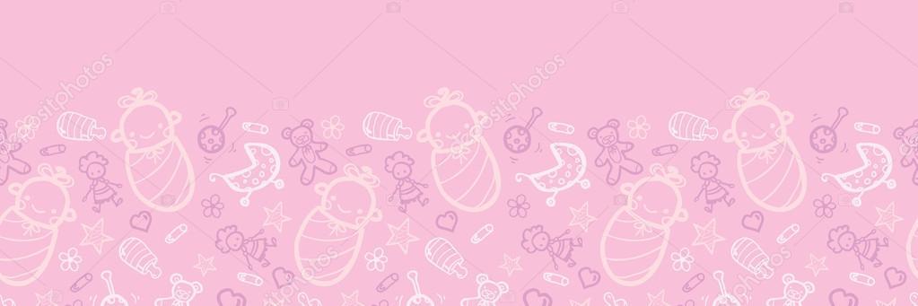 Barbie Girl Wallpapers Free Download Baby Girl Pink Horizontal Seamless Pattern Background