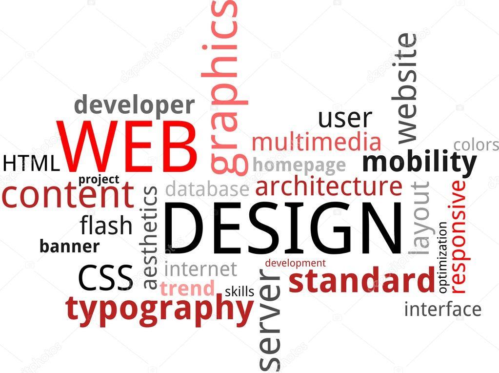 word cloud - web design \u2014 Stock Vector © masterart #20979217