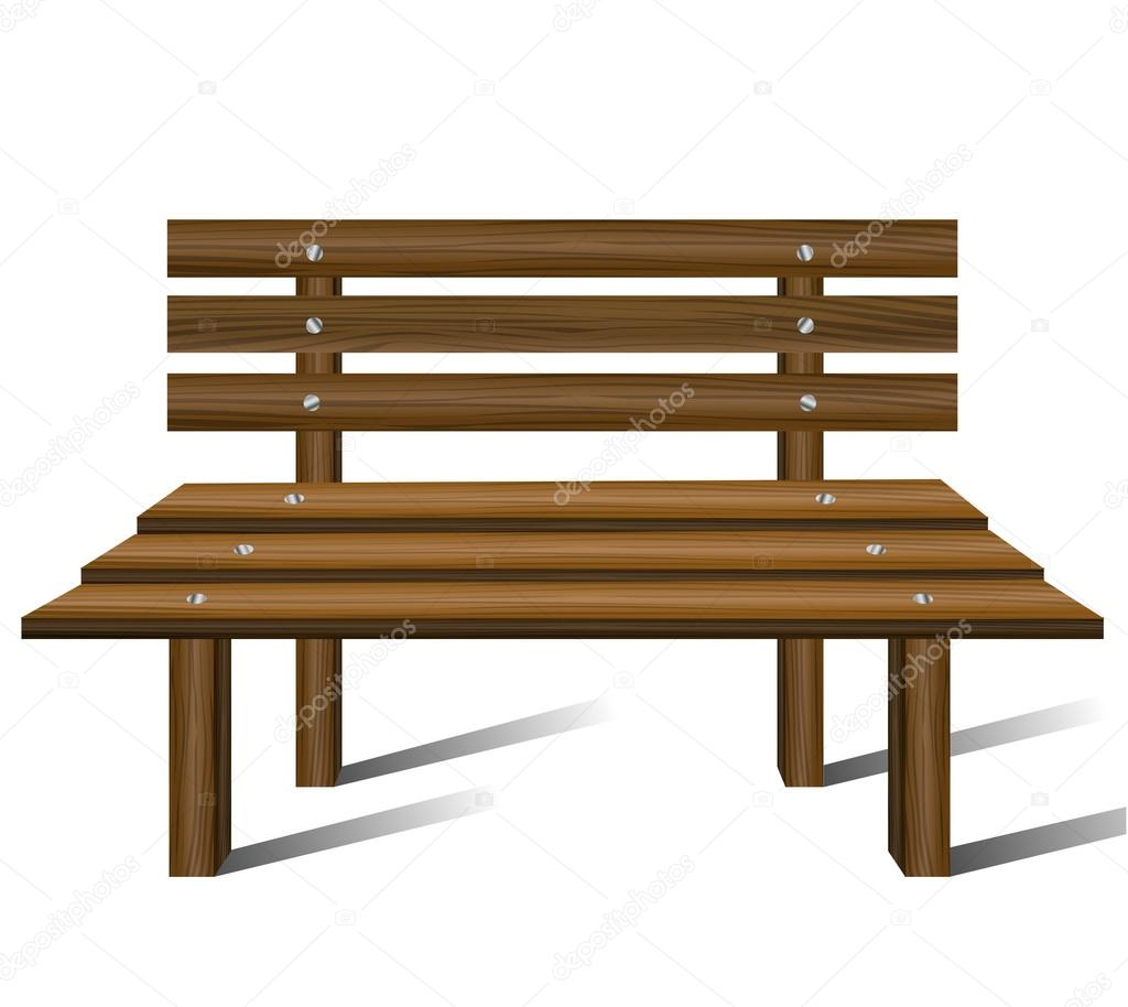 Wooden Park Benches Front Wooden Bench Stock Vector Helioshammer 17405069