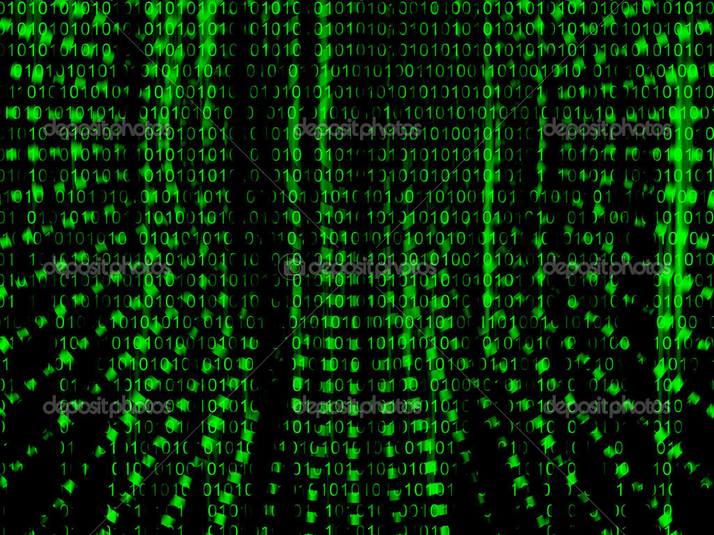 Matrix 3d Wallpaper Free Download Binary Code Streaming Stock Photo 169 Rolffimages 25408797