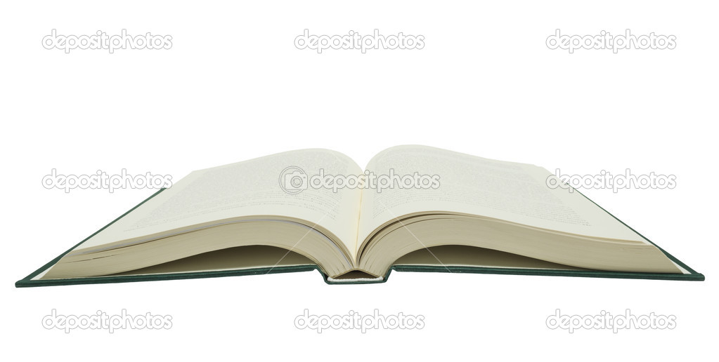 Big Opened Book Isolated On White Background \u2014 Stock Photo - opened book