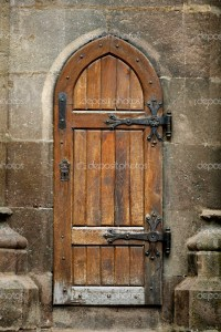 Old wooden door  Stock Photo  bizoon #18158869