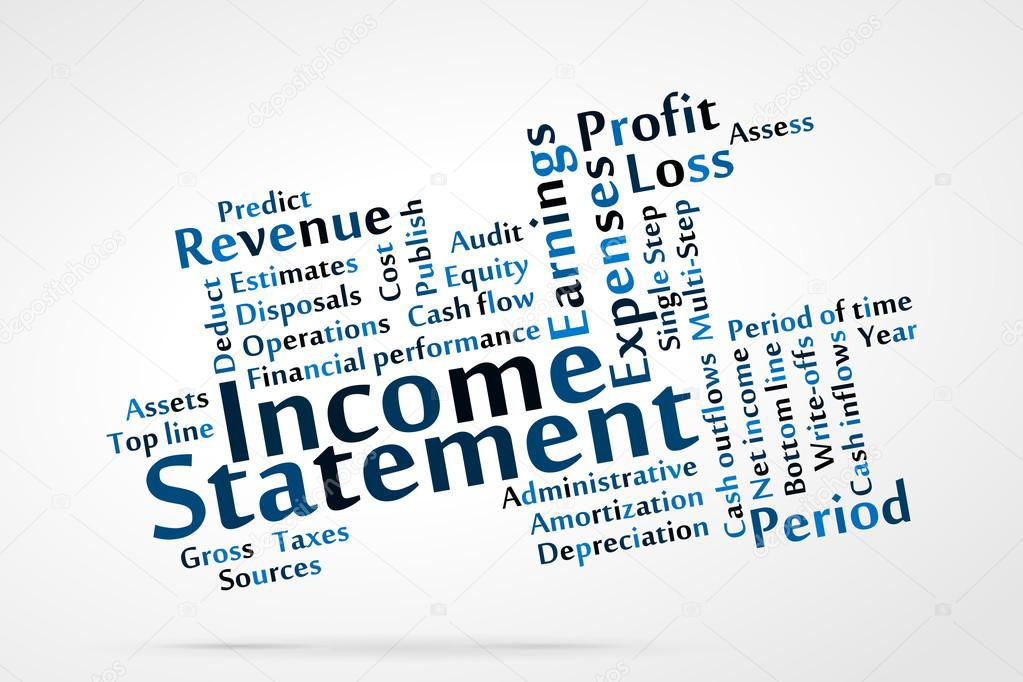 Income Statement \u2014 Stock Vector © zagandesign #29045545