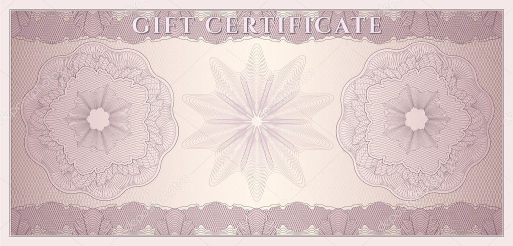 Voucher, Gift certificate, Coupon, ticket template Guilloche