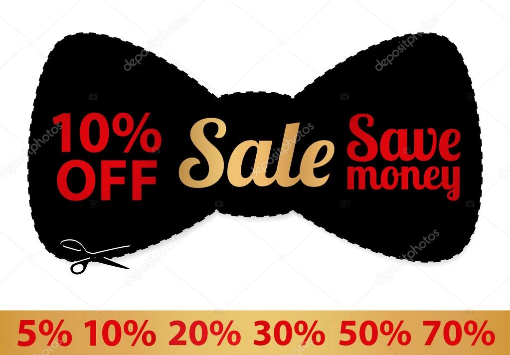 Sale Coupon, vector label (banner, tag) black template (design - sale tag template