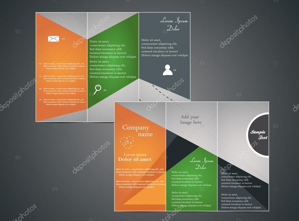 Tri-fold business brochure \u2014 Stock Vector © sintuxxx #47732635