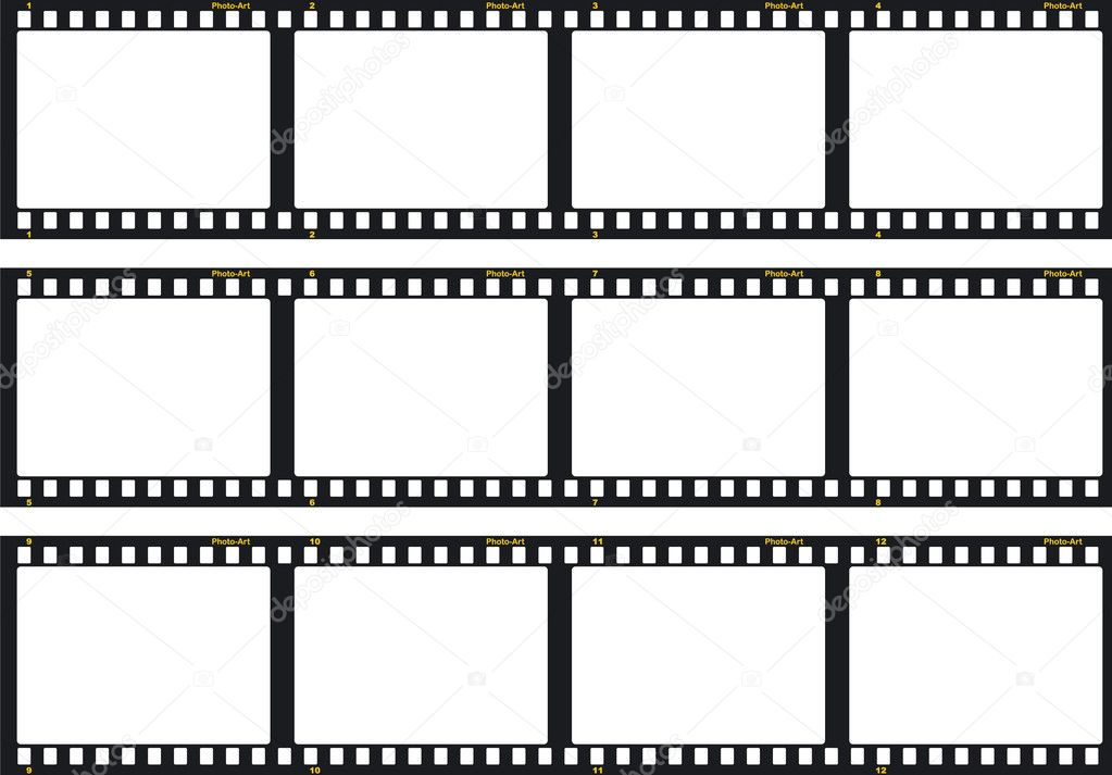 Three film strips - \