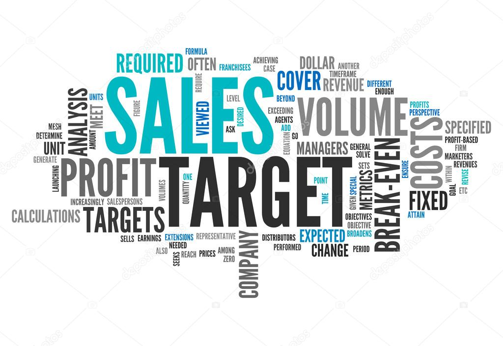 Word Cloud Sales Target \u2014 Stock Photo © mindscanner #42459403 - sales word