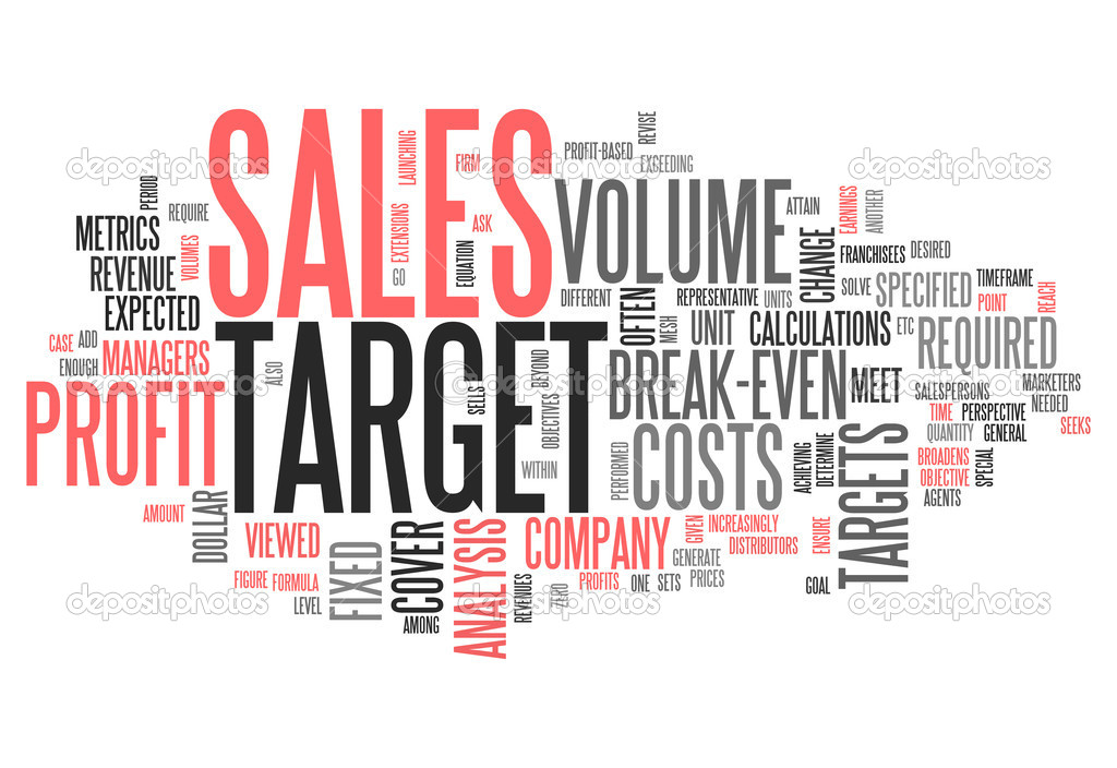 Word Cloud Sales Target \u2014 Stock Photo © mindscanner #42459427 - sales word
