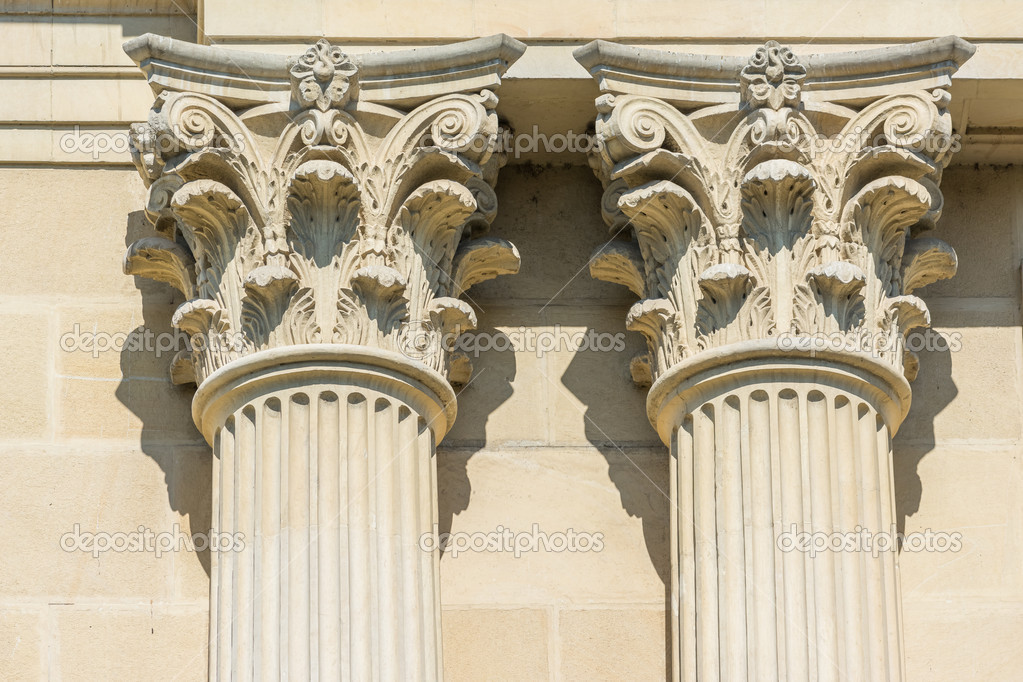 Greek Temple Corinthian Columns \u2014 Stock Photo © radub85 #43163441