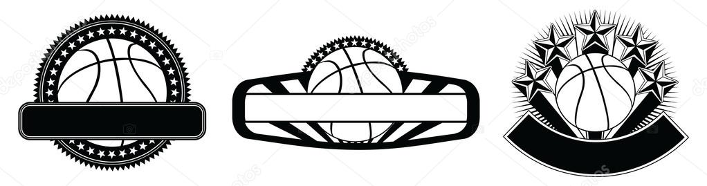 Basketball Design Emblem Templates \u2014 Stock Vector © AWesleyFloyd - black and white basketball template