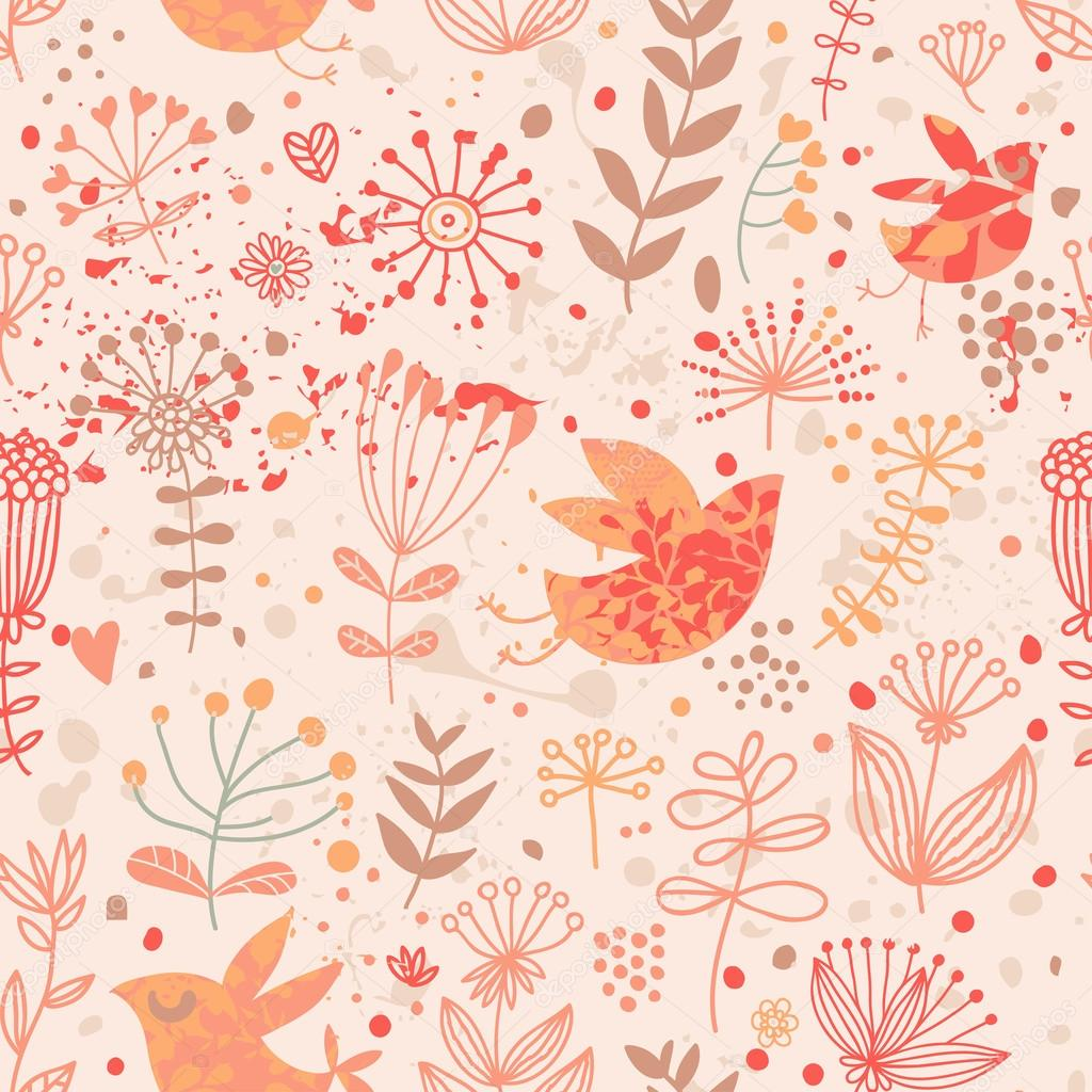Fall Themed Iphone 6 Wallpaper Fondo De Pantalla Brillante Floral Con Lindos P 225 Jaros Y