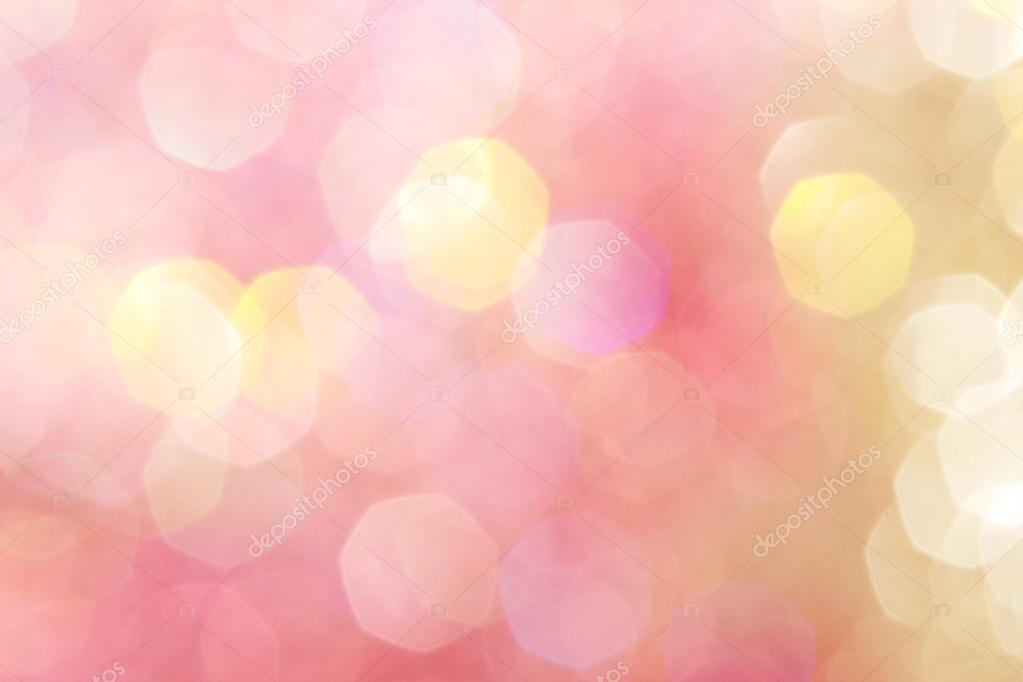 Pink Heart Wallpaper Hd Gold And Pink Abstract Bokeh Lights Defocused Background