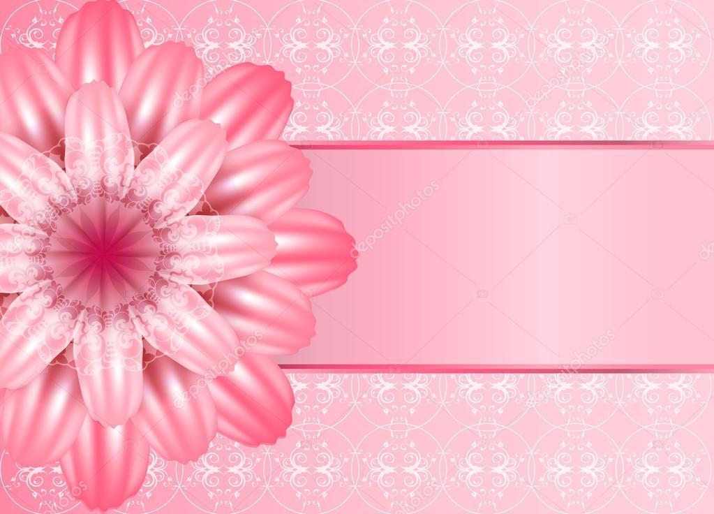Cute Roses Wallpapers With Wordings Hermosa Flor De Color Rosa Sobre Fondo De Encaje Una Gran