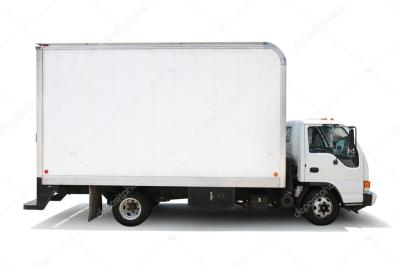 White delivery truck — Stock Photo © logoboom #32909137