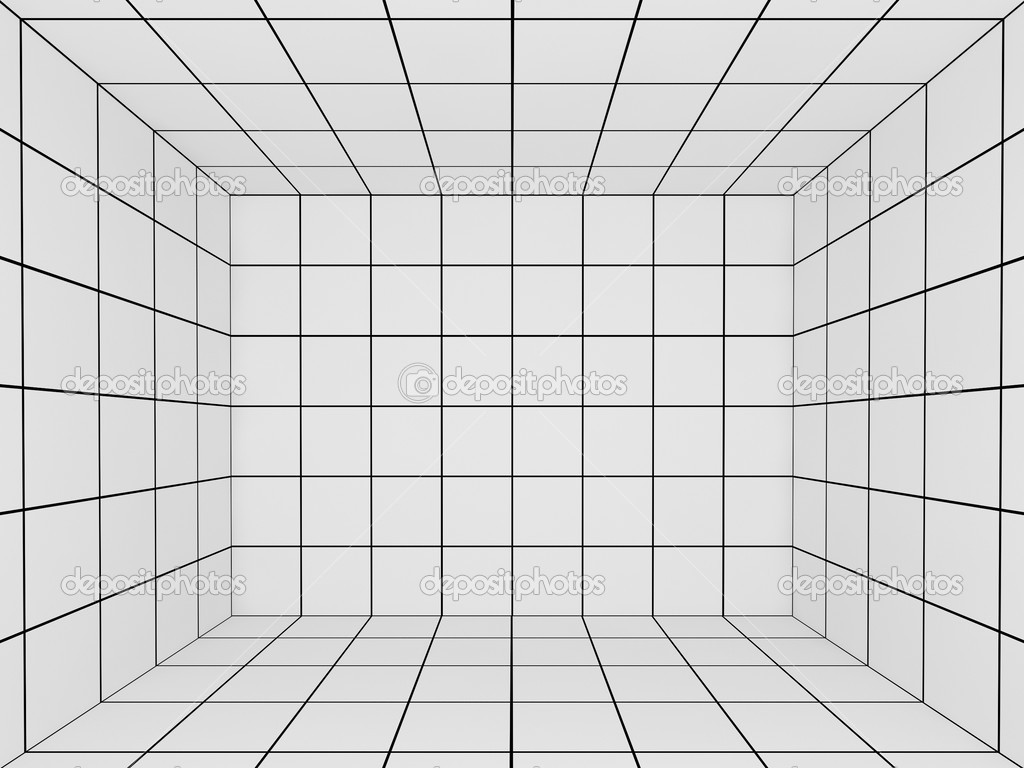 3d Cube Live Wallpaper Free Download White Space With Perspective Grid 3d Stock Photo