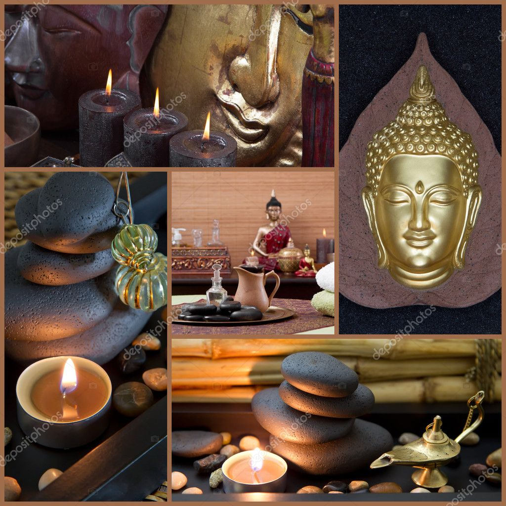 Buddha Dekoration Spa Decoration With Buddha Stock Photo Jeanette Dietl