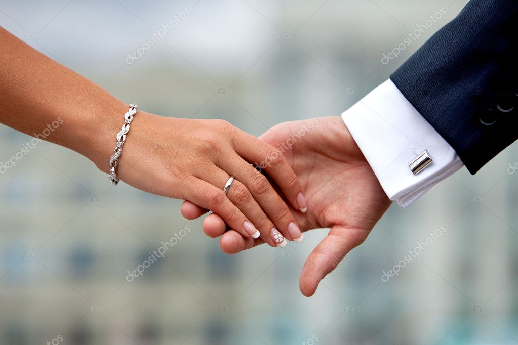 Bf Gf Quotes Wallpaper Wedding Couple Holding Hands Stock Photo 169 8th 44759419