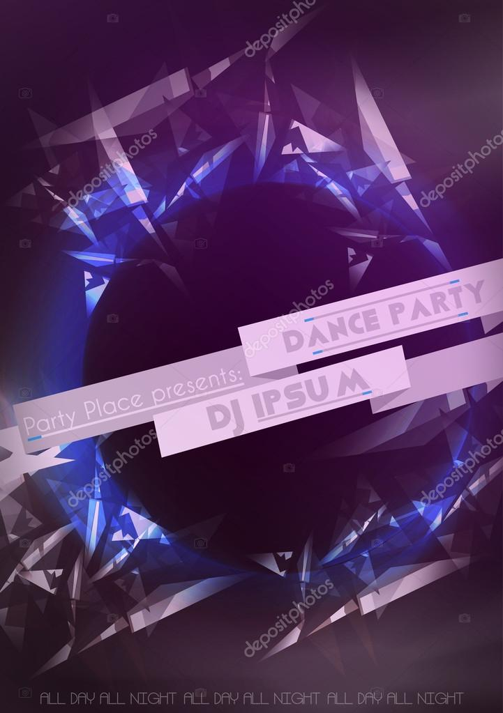 Abstract Party Flyer Background Template - Vector Illustration
