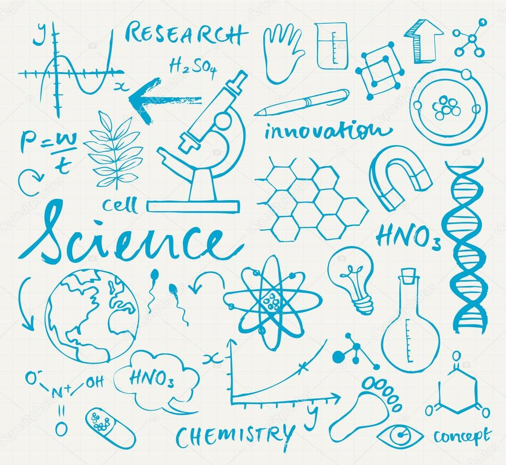 Cute Chemistry Wallpaper Science Background Stock Vector 169 Omw 49204593