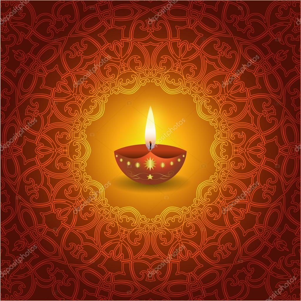 Diwali Lamp Designs Decorative Diwali Lamp Design Stock Vector Mahesh14