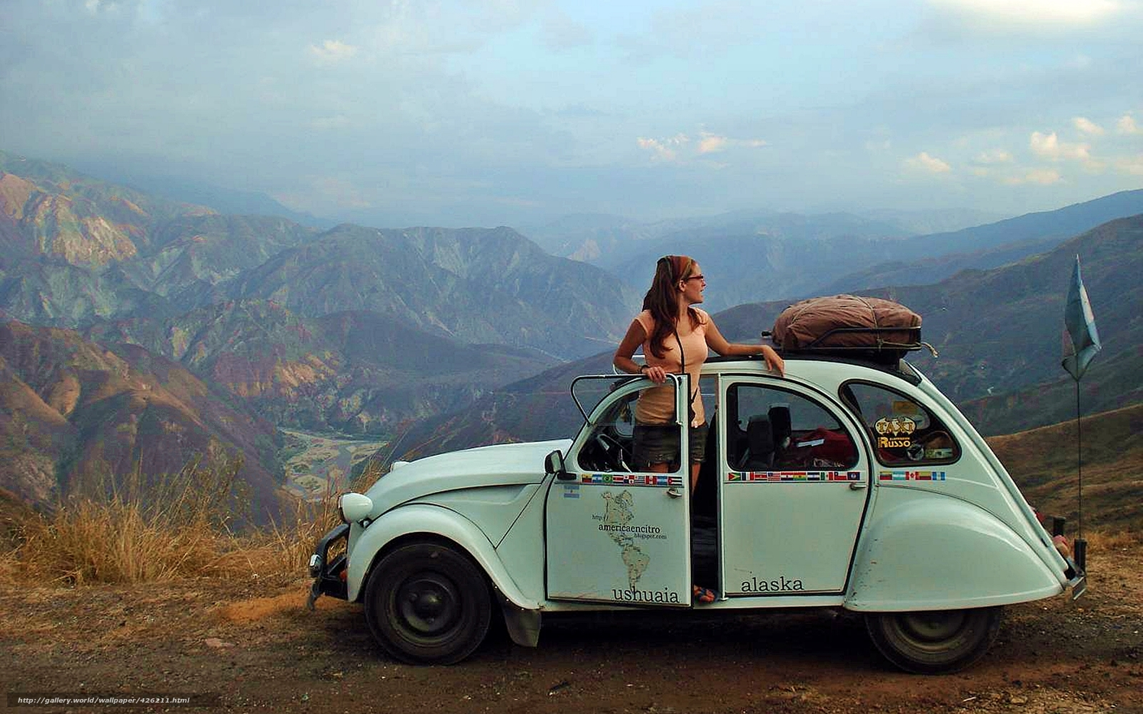 Download Wallpaper Landscape Citroen 3cv Travel Adventure Free