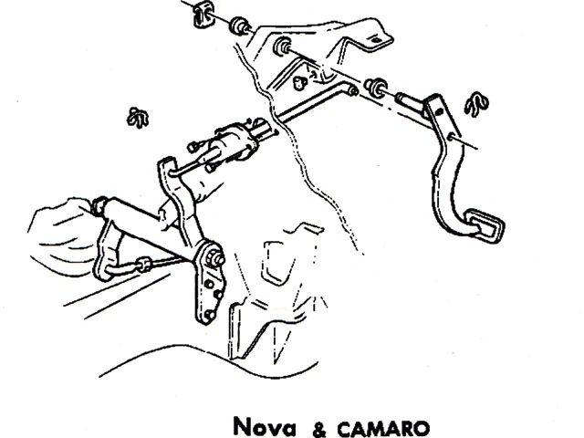 68 camaro clutch linkage diagram