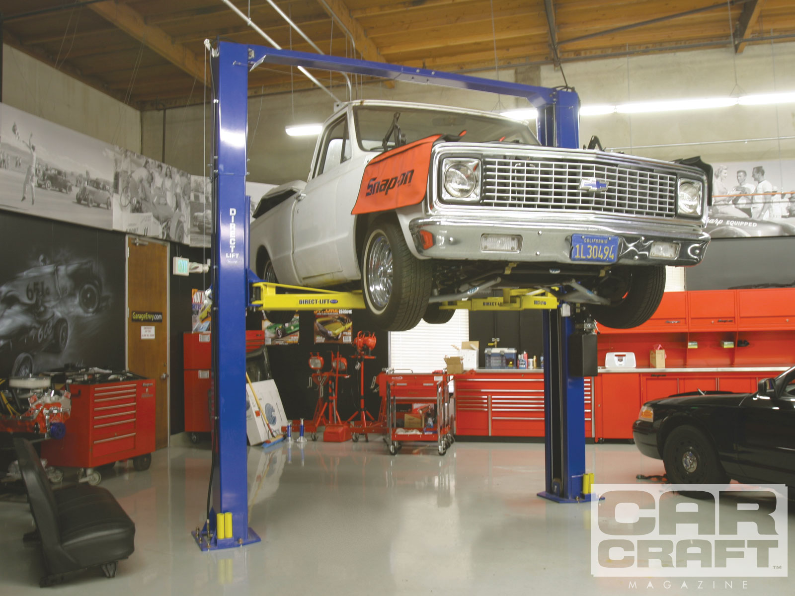 Car Lift In Garage Choosing The Proper Garage Car Lift Two Post Lifts Hot Rod Network