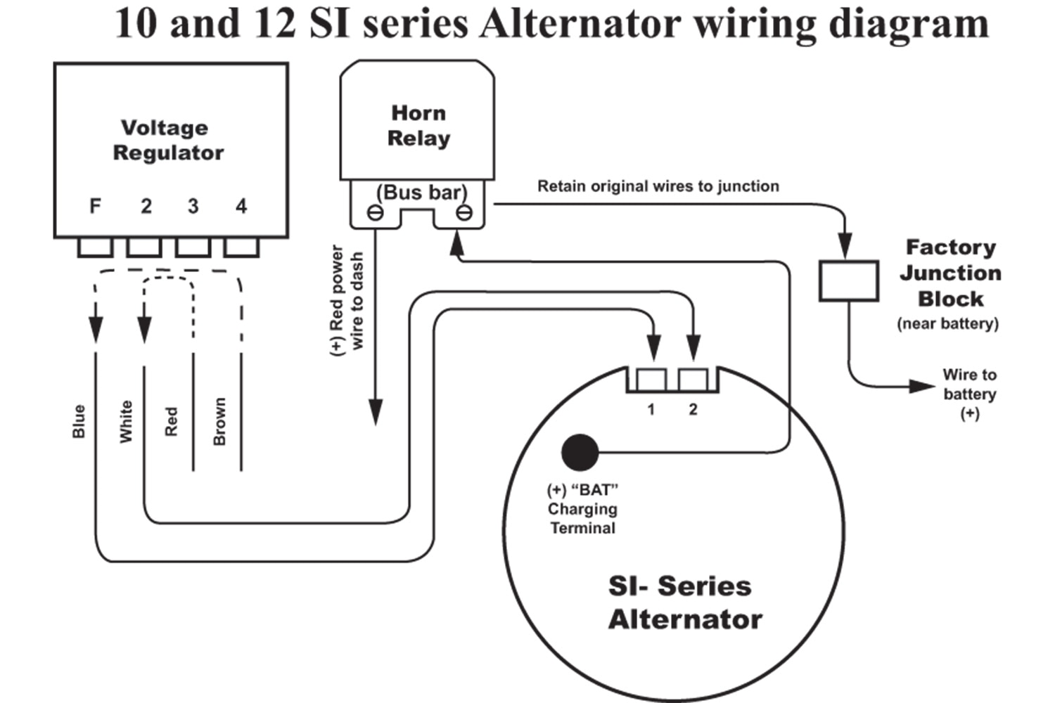 2 pin alternator wiring diagram