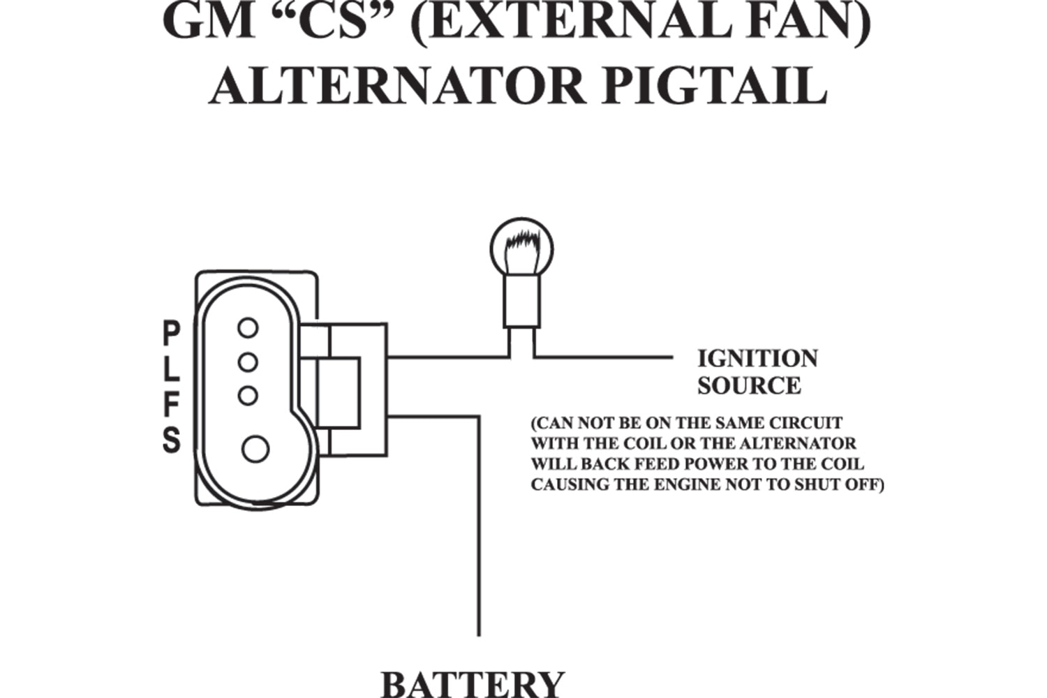 gm powermaster alternator wiring