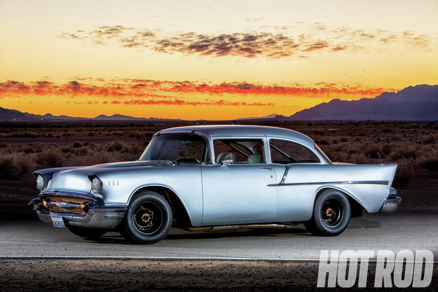 Classic Car Wallpaper 57 Chevy 57 Chevy Quick Silver Hot Rod Network