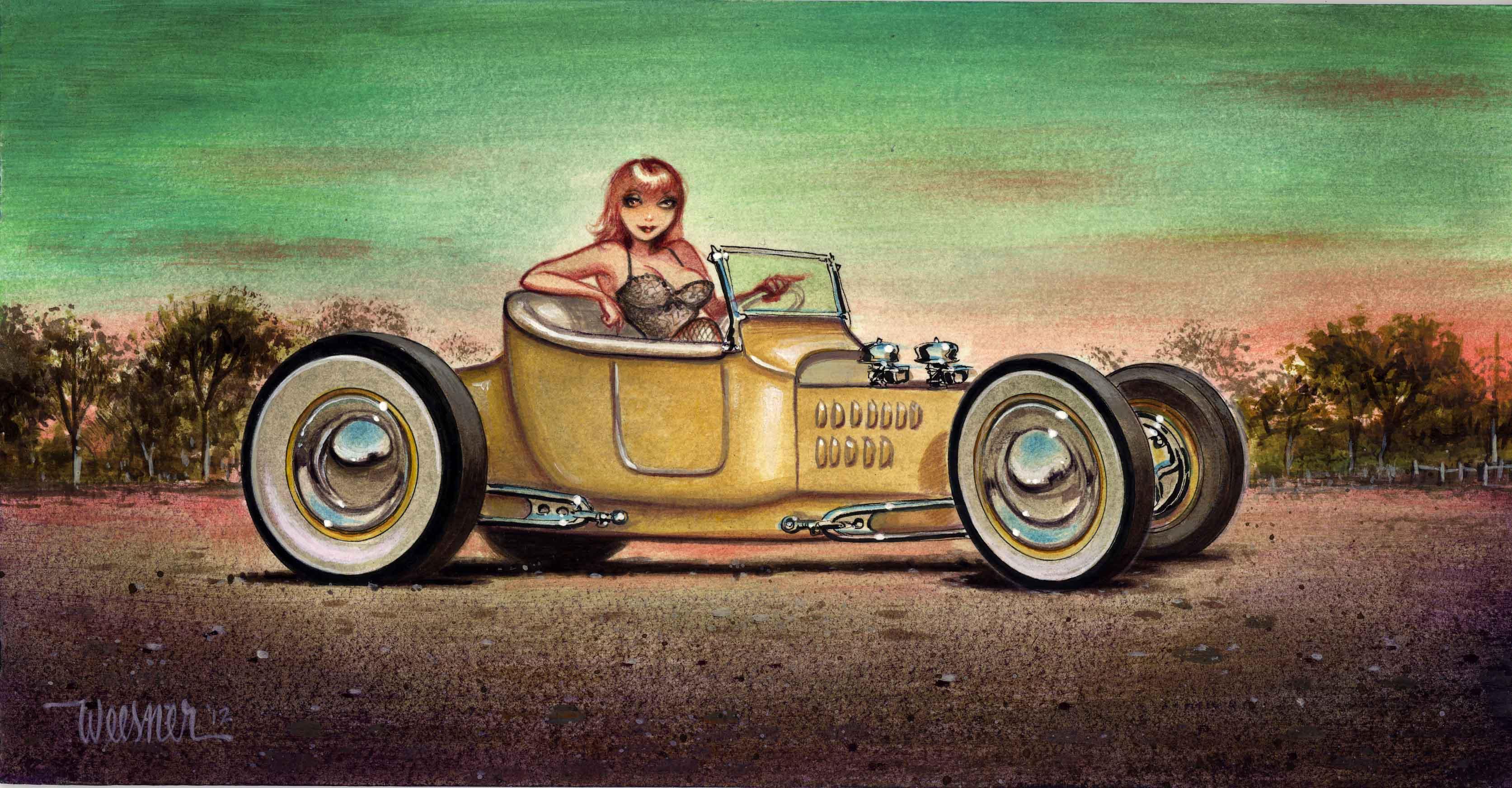 Pin Up Girl Art Vintage Wallpaper Hot Rod Artist Keith Weesner Hot Rod Network