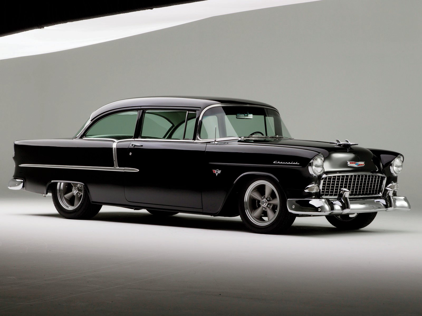 Classic Car Wallpaper 57 Chevy A 1956 And 1955 Chevy 210 Hot Rod Network