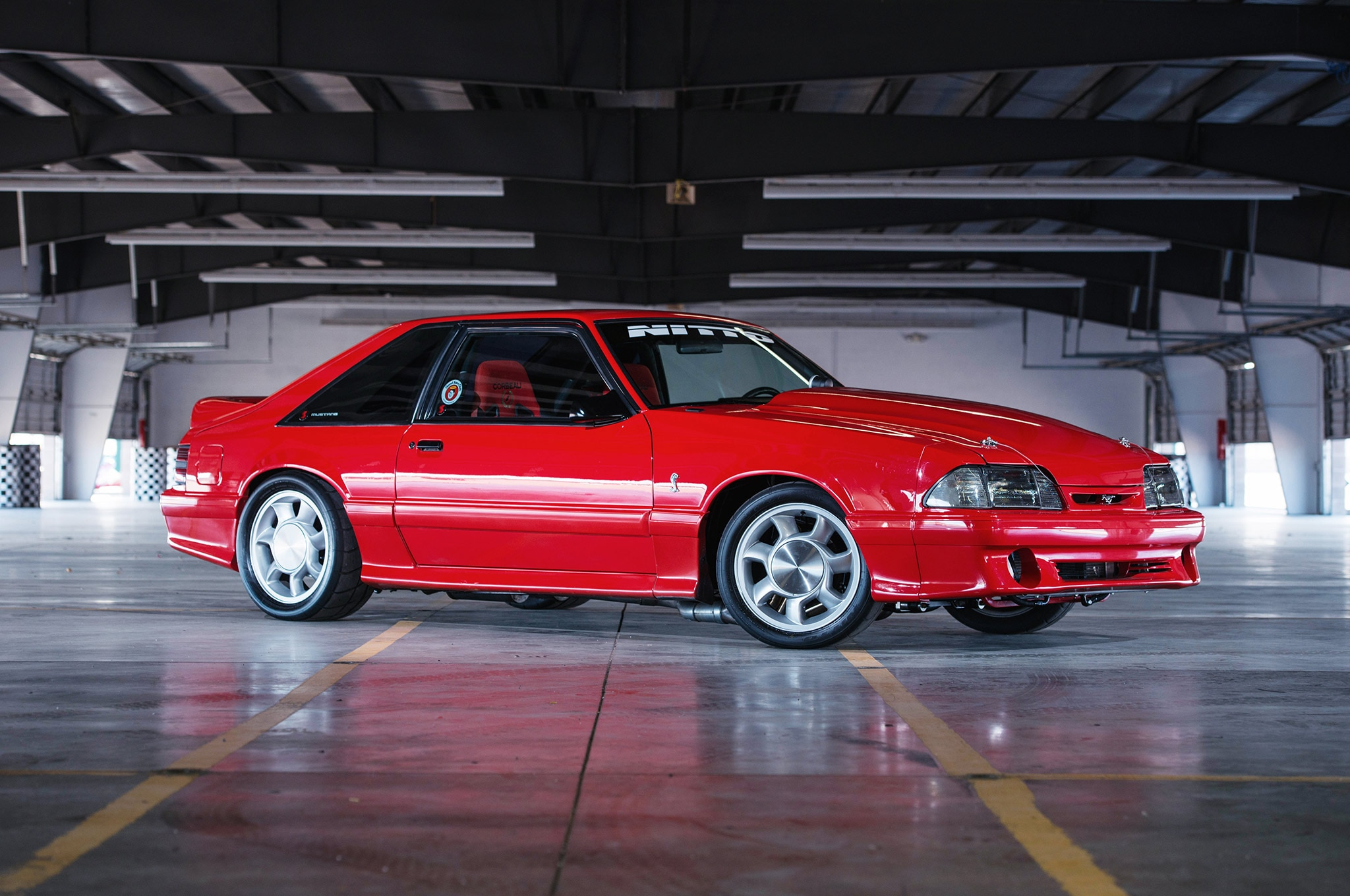 Classic Mustang Car Wallpaper Matt Snow S 1993 Svt Cobra Is Backed By Insane Nascar