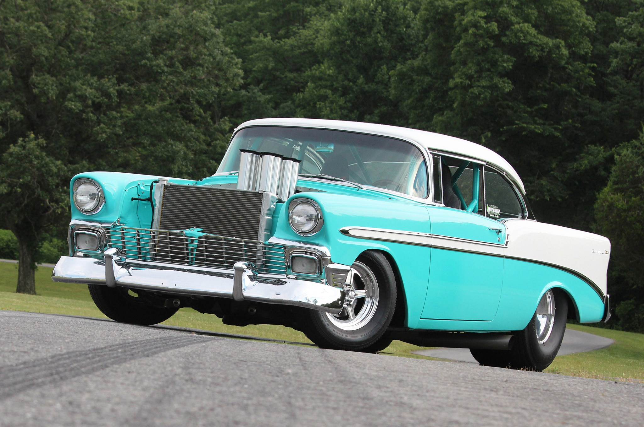Classic Car Wallpaper 57 Chevy Hilborn Injected Big Block 1956 Chevy Bel Air With Five