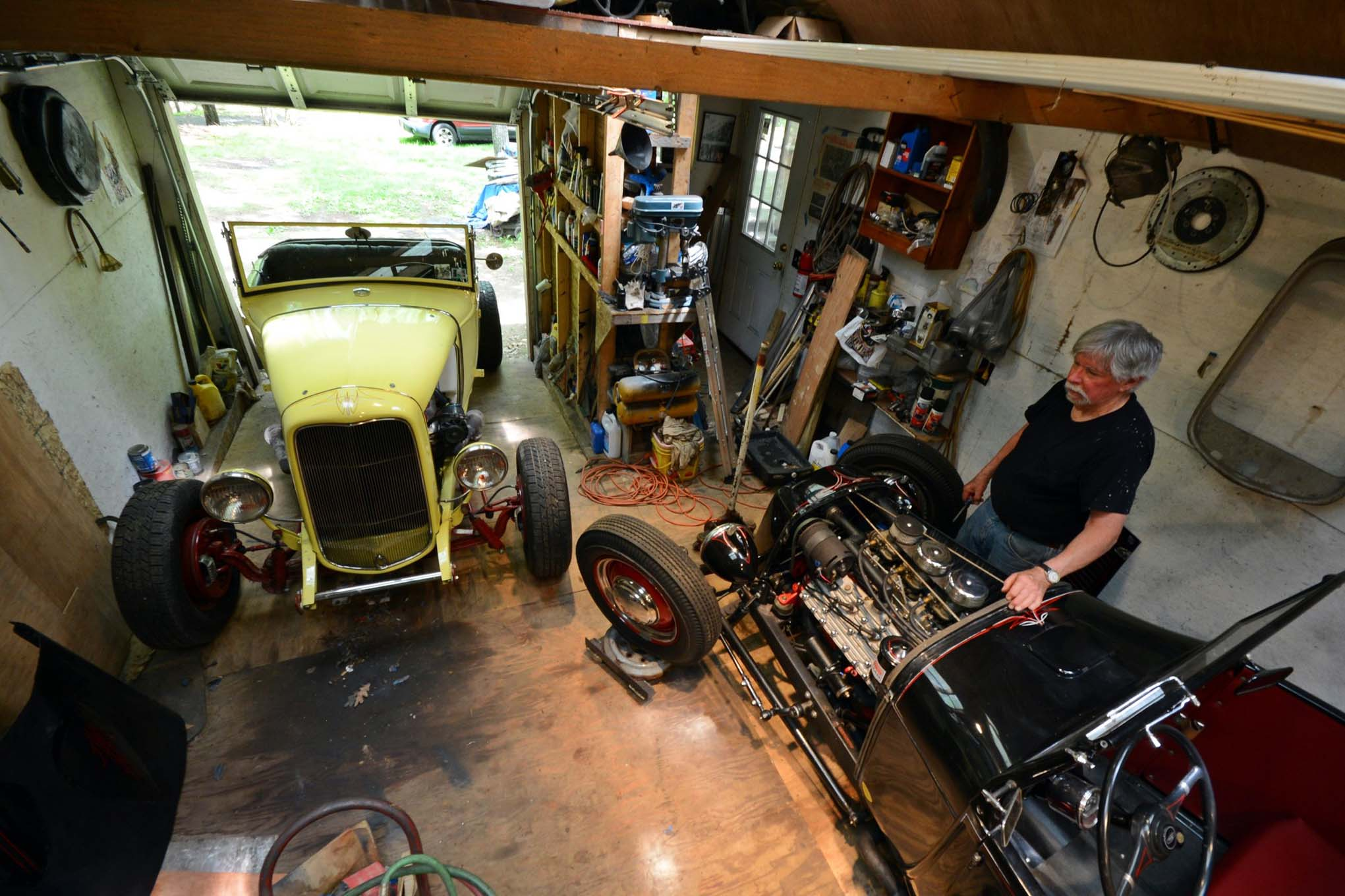 Old School Garage Old School Hot Rods Built In A One Car Garage Hot Rod
